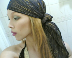 dessert queen headscarf look