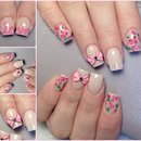 Cute girly nails with 3D bows