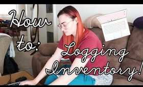 Inventory Time! How I Log My Inventory   Poshmark Ebay Part Time Reseller