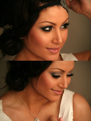 Makeup Look inspired by Kandee Johnson's approach to wedding makeup