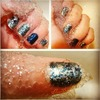 Saran wrap manicure. under water!