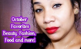 October Favorites including... Food, Makeup, Skin care and more | Honey Kahoohanohano