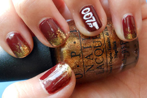 Excited for the new James Bond movie? Polishes used:  OPI - Skyfall OPI - Goldeneye