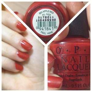 """Big apple red"" by opi"