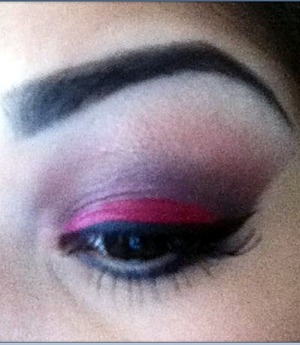 Smokey red with browns