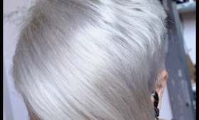 DIY white, silver AND gray hair how-to at home!