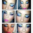blue yellow pink purple eyeshadow