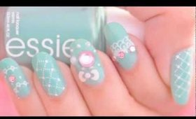Hime Gyaru deco nail art tutorial (oval shaped nails)