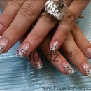 White ombre leopard nails