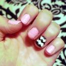 Pink/Chevron Nails