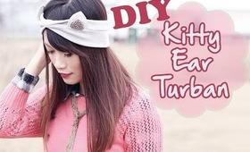 ☂ DIY: Simple Kitty Ear Turban {Sew Easy}