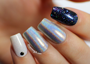 More photos + info here: http://www.lacquerstyle.com/2013/12/new-years-notd-featuring-enchanted.html