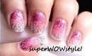 Ombre nails without sponge - No sponge gradient glitter nail art
