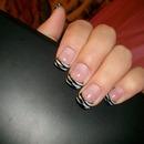 Blackt ips w/ zebra stripes
