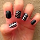 Chevron Nailsticker