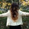 Medium hair ombre