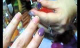 Gel Nails Tutorial- Purple Grape