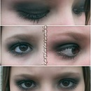 Smoked out black eye look