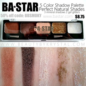Review/swatches: http://www.beautybykrystal.com/2013/04/ba-star-natural-shadow-palette.html