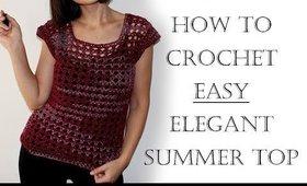 How to Crochet a Summer Top | Beginner Friendly