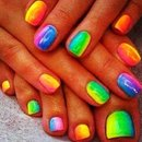 Cute Rainbow Nails❤️💛💚💙💜🌈