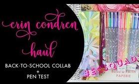 ERIN CONDREN HAUL | Back-to-School Collab + Pen Test | Bliss & Faith Paperie #ECSQUAD