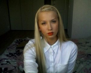 I am really into orange-y red lips! I feel really comfortable wearing it :)