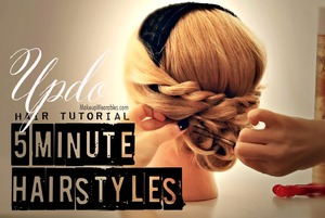 Learn how to make this cute updo on your own hair.  http://www.makeupwearables.com/2013/10/hairstyles-low-bun-hair-tutorial-video.html?preview=true&preview_id=690&preview_nonce=635146b303&post_format=standard