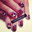 Rose Printed Nails