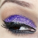 Purple Glitter Makeup