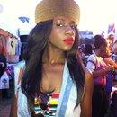 Afropunk fest rocking a cardboard chapeau