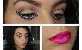 Graphic Arrow Liner & Hot Pink Ombré Lips | Makeup Tutorial ♥