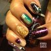 Peacock Nail art nails