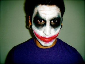 some halloween work. my ex as the joker. i was pretty proud of how good it turned out!