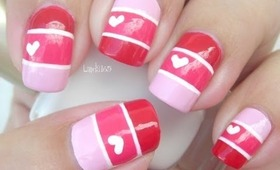 Nail Art - Valentine Color Blocking - Decoracion de uñas