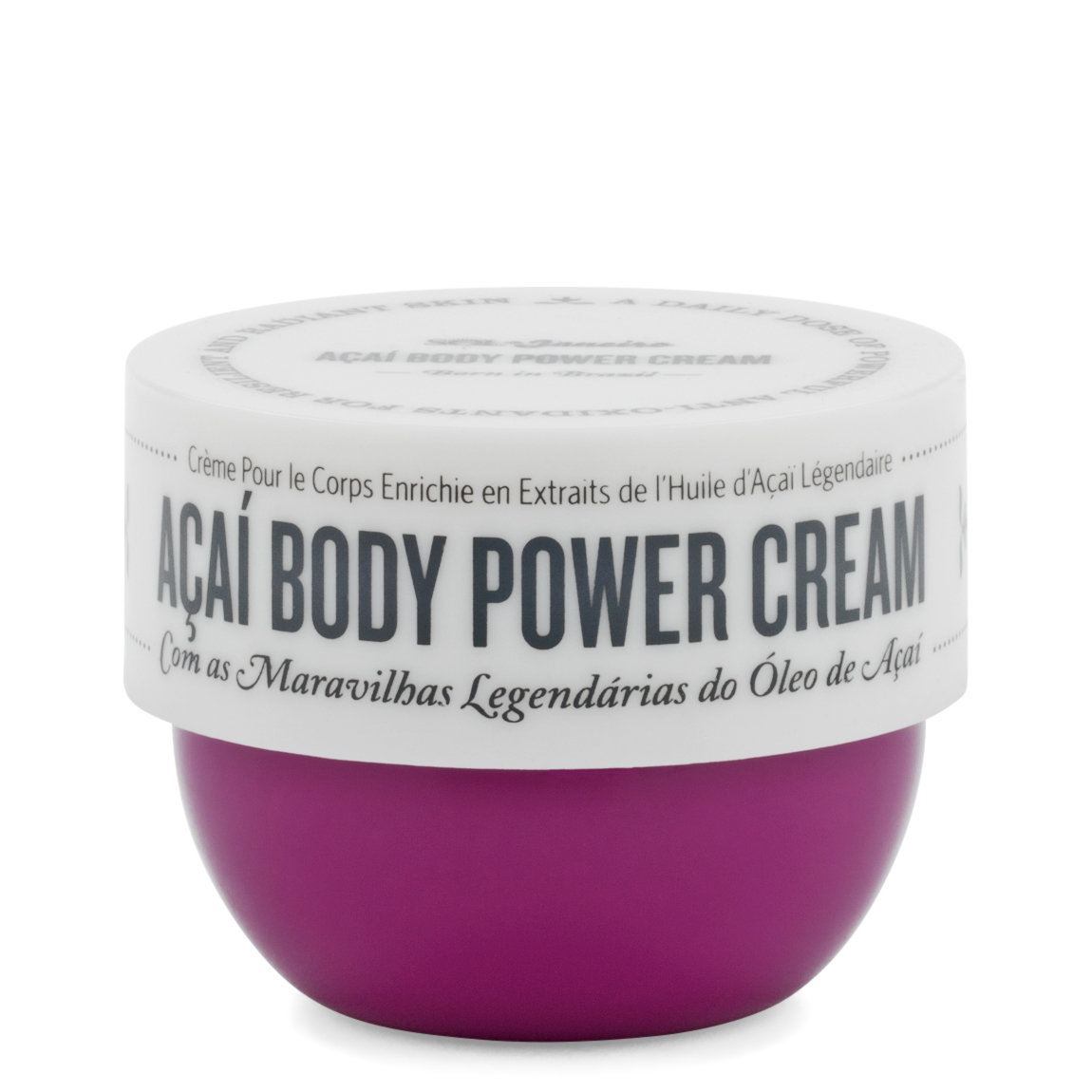 Sol de Janeiro Açaí Body Power Cream 2.5 oz product smear.