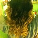 ombre curls(: