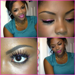 Just a simple valentines make up look ! There will be a tut on YouTube soon!