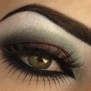 black, smoky eyes