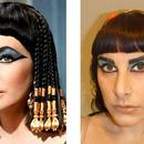 Me as Liz as Cleopatra