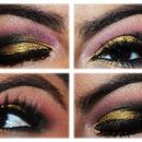 Pink/Gold/Black Eyeshadow