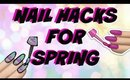 SPRING NAIL HACKS +GIVEAWAY | TOP 5 PINTREST HACKS