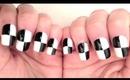 Monochrome Chequerboard Nails Tutorial