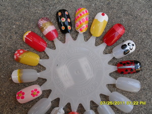 Playing around  with nail polish!