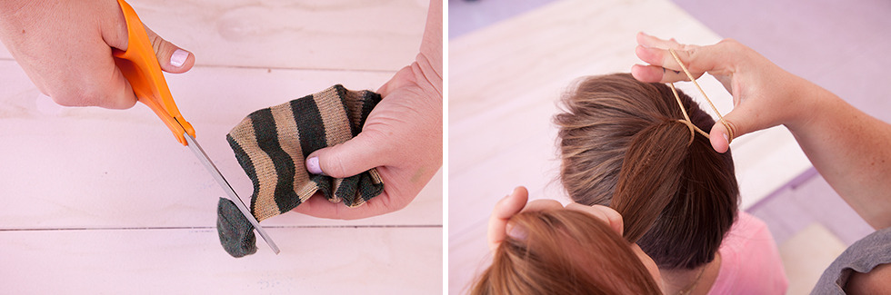 How To Do A Sock Bun - Create Sock Doughnut And Ponytail