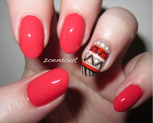 I'm honestly really obsessed with this tribal trend, and coral is one of my favorite colors!