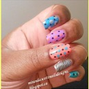 Skittles and Polka Dots Manicure