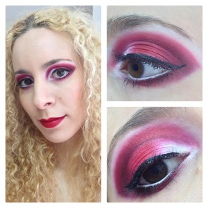 I went to Wreck it Ralph (it took forever to come out in AU) and wanted to use some bright colours such as Sugarpill Tako and Evil Shades Evil Queen & Zombie. I still really liked the finished look even though it turned into this dramatic red and white graphic shape.  http://michtymaxx.blogspot.com.au/2013/01/ootd-wreck-it-ralph.html