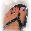 4th of July Toenail Art