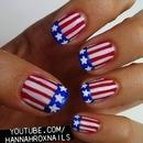 Stars and Stripes Nail Art
